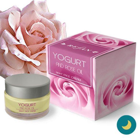 Refan Rózsa & Joghurt éjszakai arckrém - érzékeny bőrre