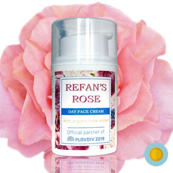 Refan's Rose hidratáló nappali arckrém organikus rózsavízzel