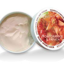 Bőrfeszesítő Gránátalma & Papaja testvaj természetes shea vajjal