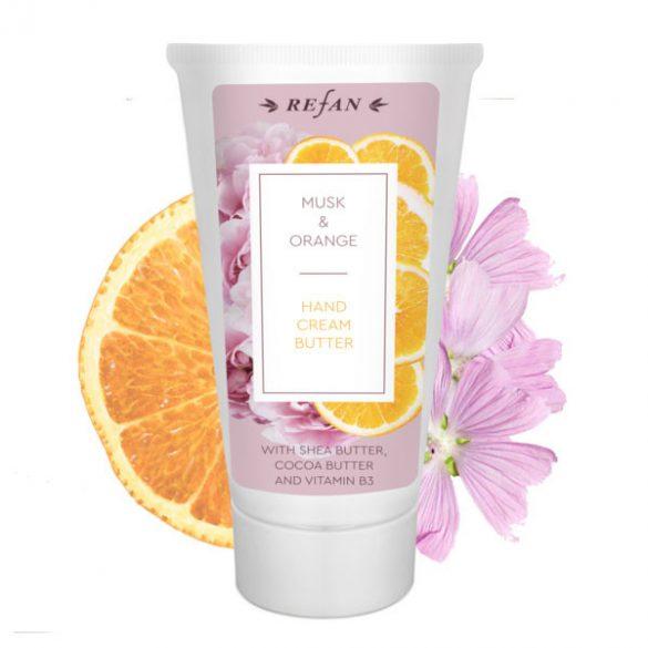 Pézsma és Narancs hidratáló kézkrém száraz bőrre