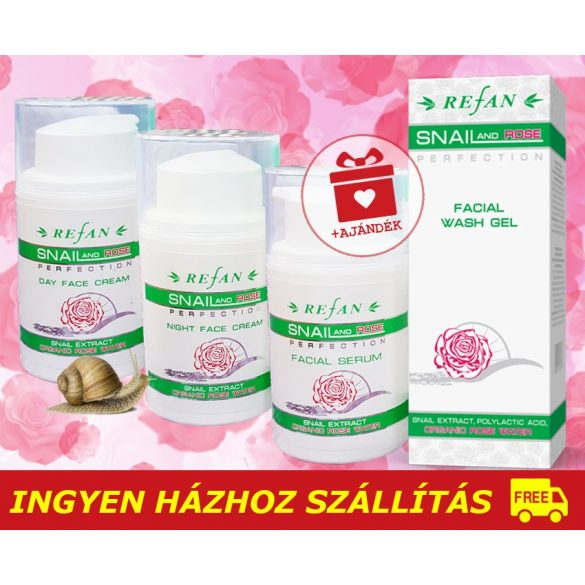 Refan SNAIL ROSE Luxus arcápoló csomag / 40+ / + AJÁNDÉK