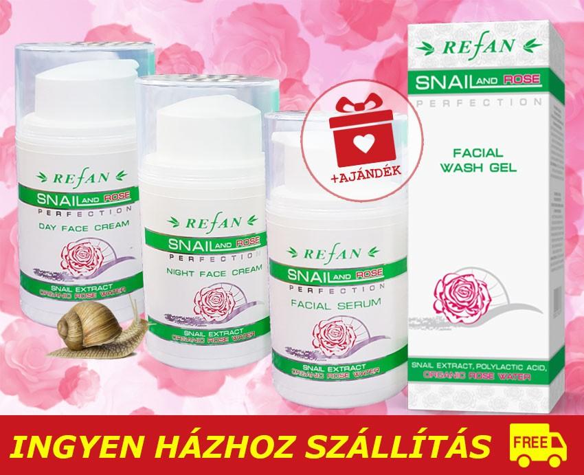 37c4493333 Refan SNAIL ROSE Luxus arcápoló csomag / 40+ / + AJÁNDÉK - Refan ...
