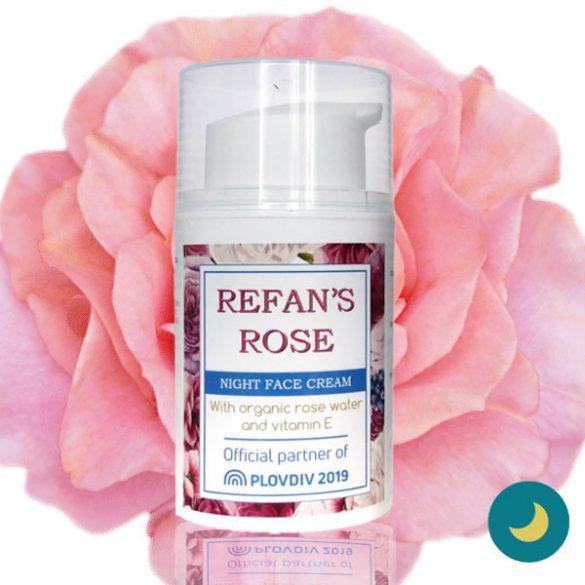 Refan's Rose hidratáló éjszakai arckrém organikus rózsavízzel