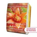 Természetes Gránátalma & Papaja bőrfeszesítő szivacsos szappan