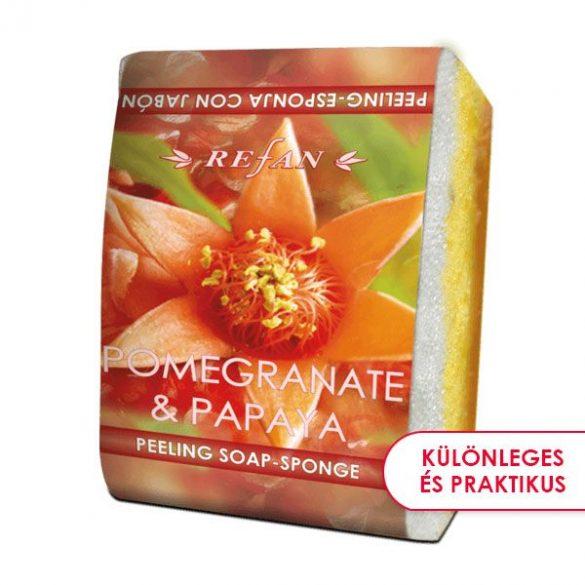 Refan Gránátalma & Papaja bőrfeszesítő szivacsos szappan