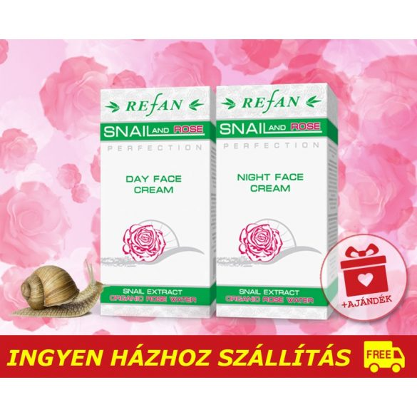 Refan SNAIL ROSE bőrfiatalító csomag / 40+ / + AJÁNDÉK