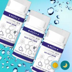 Refan Bőrfeszesítő hialuronsav arckrém csomag természetes kollagénnel