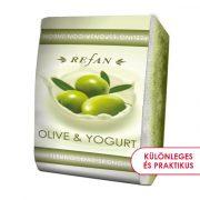 Refan Olíva & Joghurt bőrfeszesítő szivacsos szappan