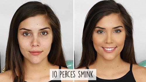 10 perces smink