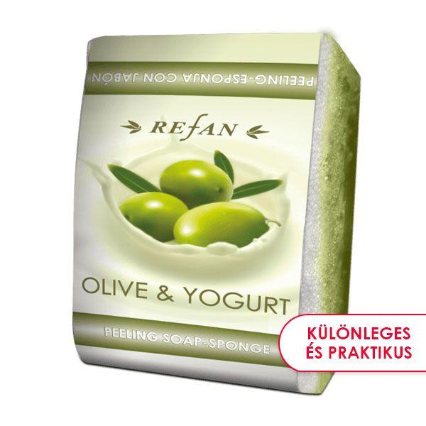 Olíva & Joghurt bőrfeszesítő szivacsos szappan